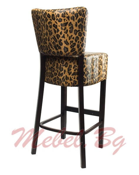 Barstool massive wood 1303B