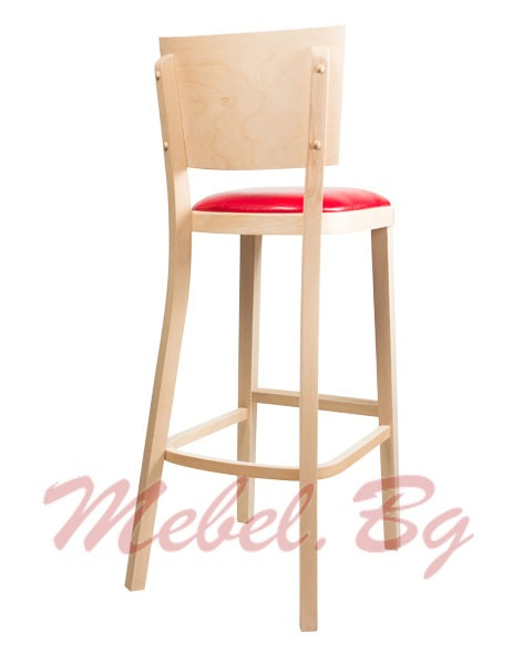 Barstool massive wood 1314B