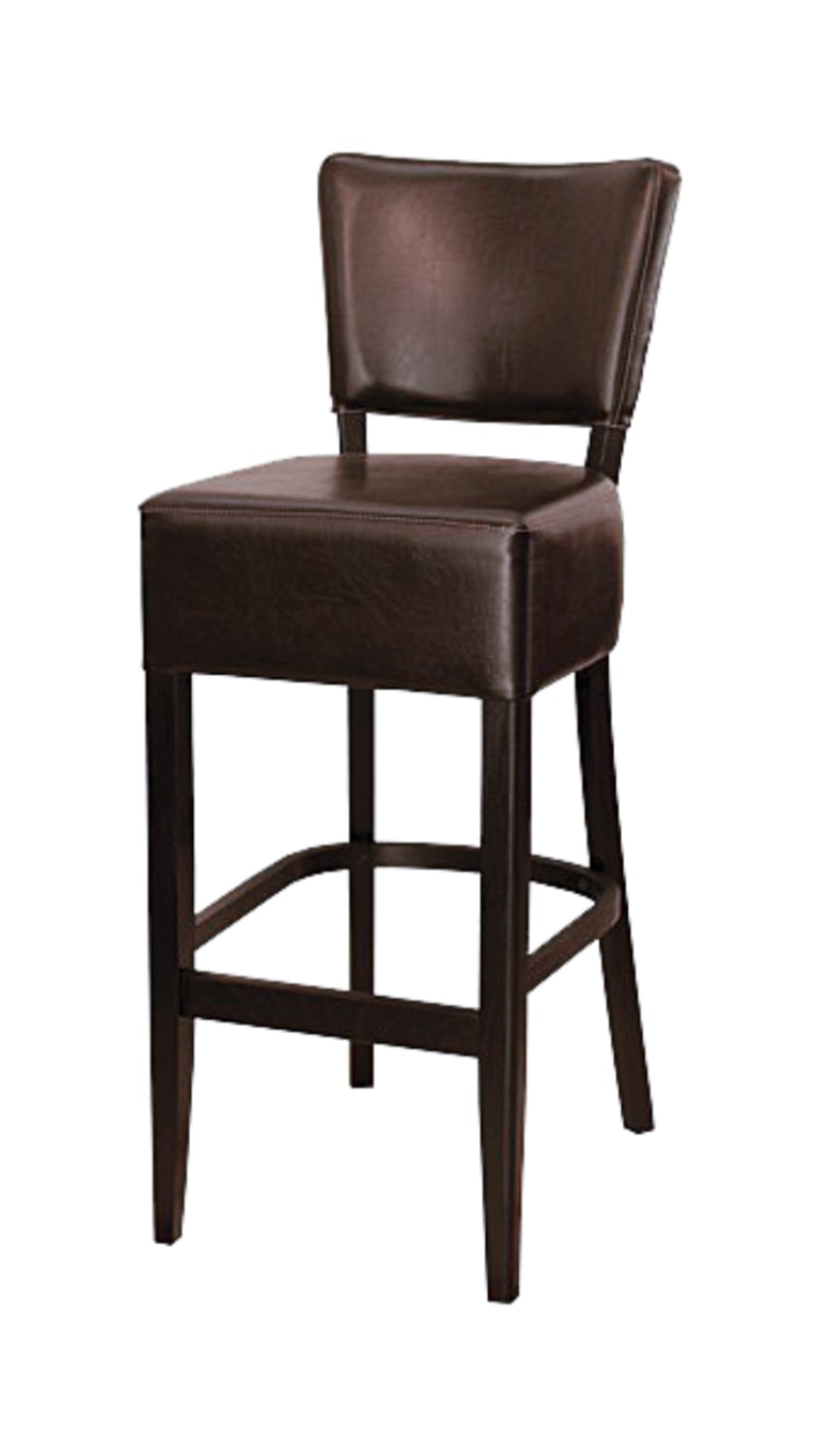 Upholstered Solid Wood barstool made of Beech - 1303B