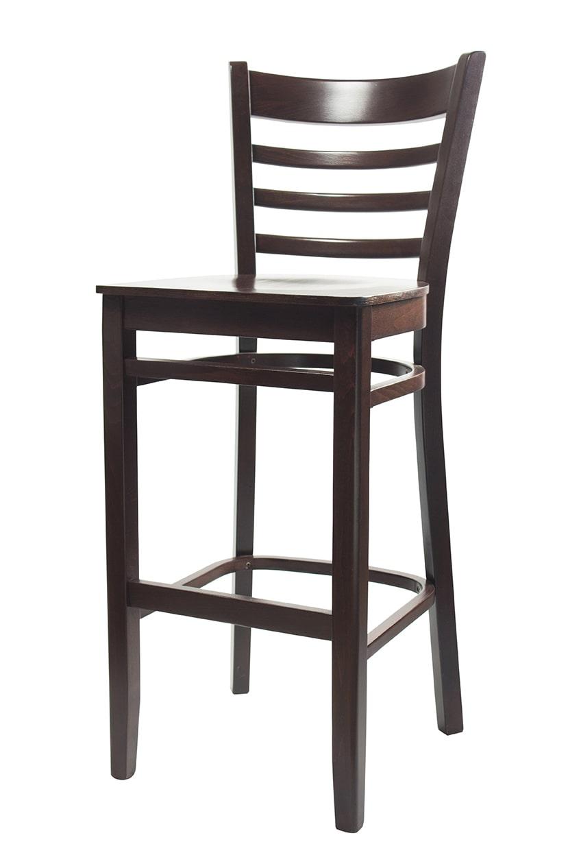 Solid Wood bar stool made of Beech - 1305B