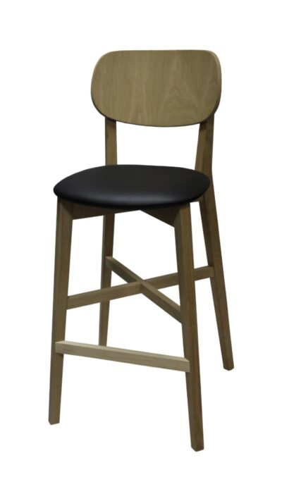 Solid Wood bar stool made of Beech or Oak - 1306B