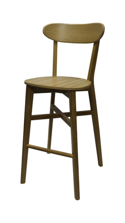 Solid Wood bar stool made of Beech or Oak- 1321B