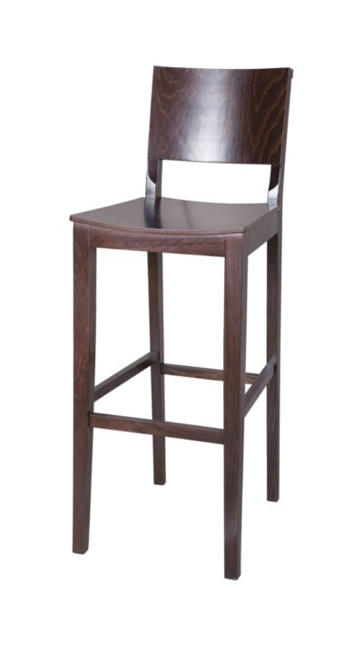 Solid Wood bar stool made of Beech - 1332B