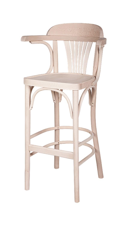 Solid Wood bar stool made of Beech - 1337B