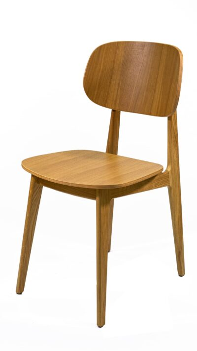 Трапезен стол, дъбов, масив.