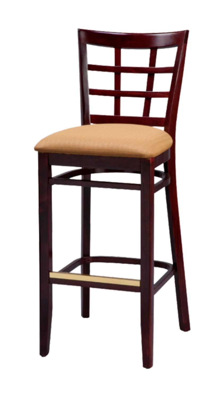 Solid Wood bar stool made of Beech - 1312B