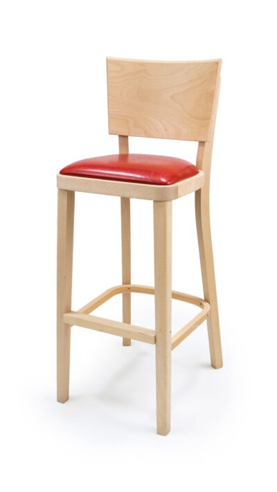 Solid Wood bar stool made of Beech - 1328B