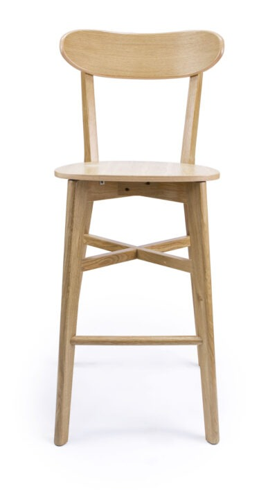 Solid Wood barstool made of Beech or Oak- 1321B