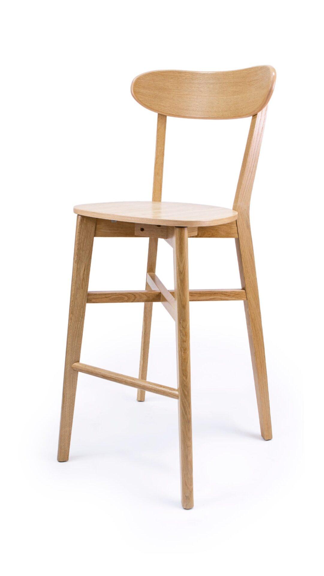 Масивен бар стол от бук или дъб - 1321B