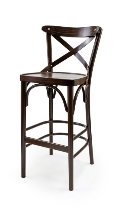 Solid Wood bar stool made of Beech - 1327B, BP