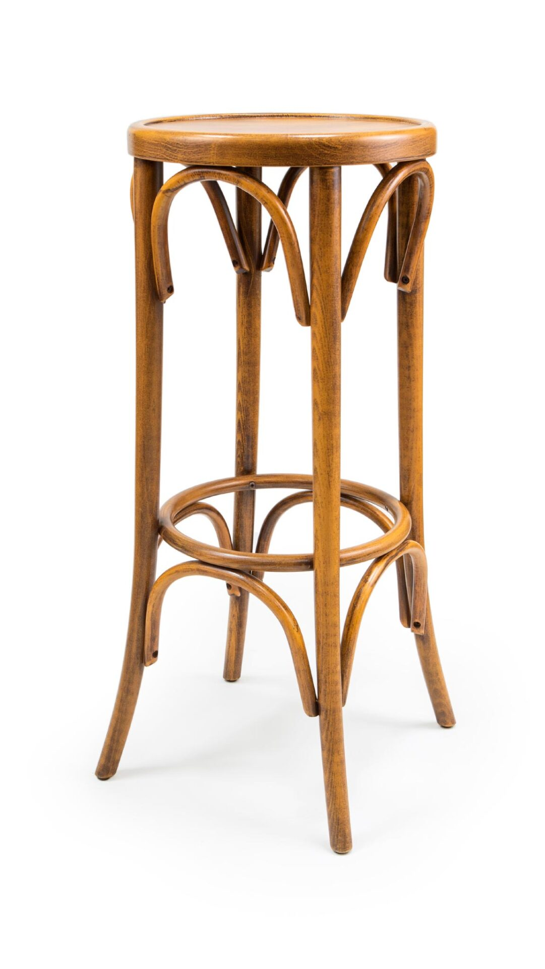 Solid Barstool made of Beech - 1329B, BL
