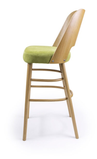 Solid Wood barstool made of Beech - 1334B