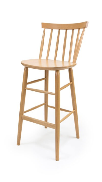 Solid Wood bar stool made of Beech - 1338B