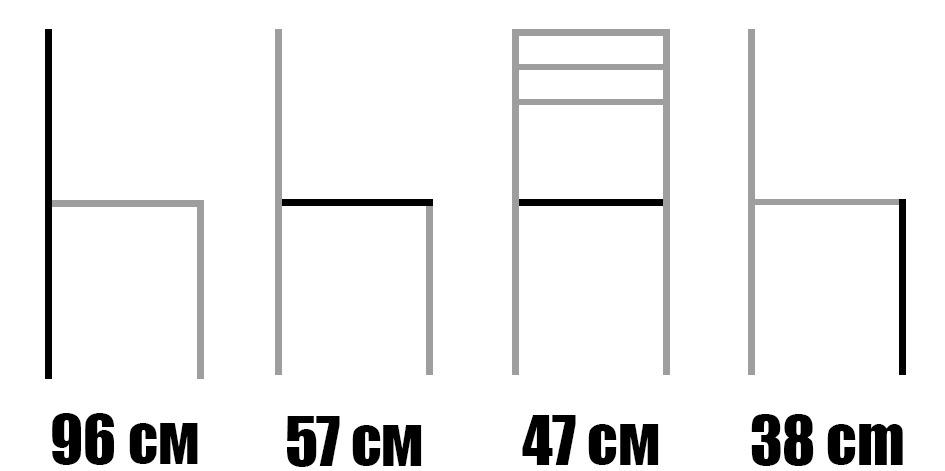 Стол от масив бук - 1364S - размери