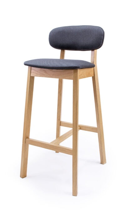 Solid Wood bar stool made of Beech or Oak - 1370B
