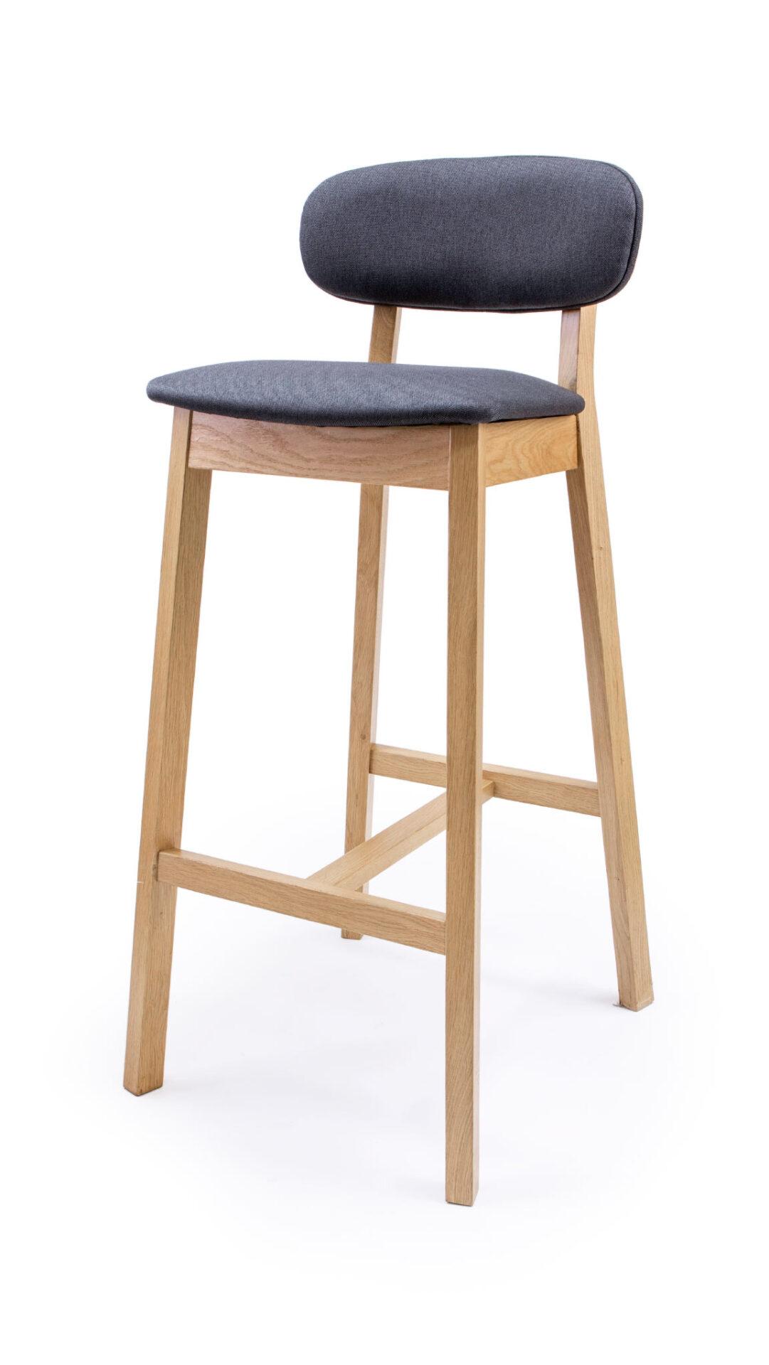 Solid Wood bar stool made of Beech or Oak - 1370B