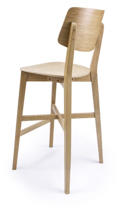 Solid Wood barstool made of Beech or Oak - 1371B