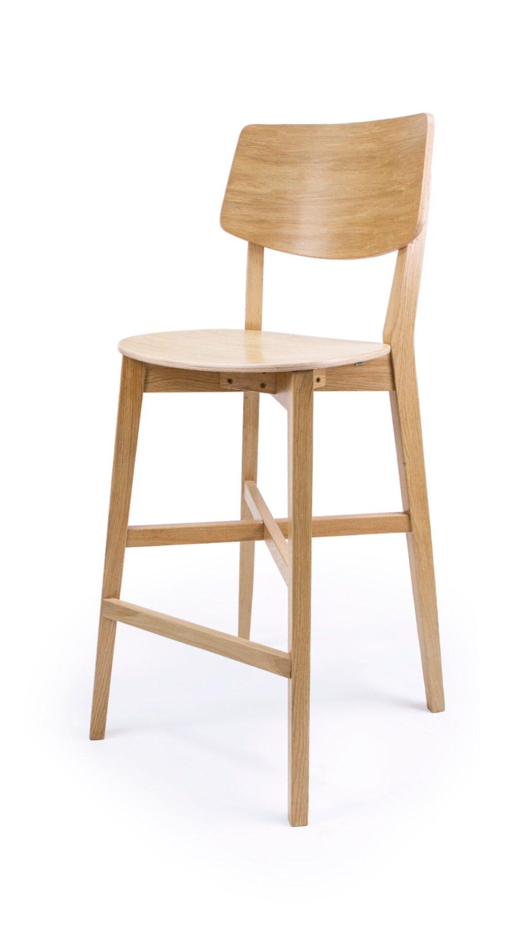 Бар стол от масив бук или дъб - 1371B