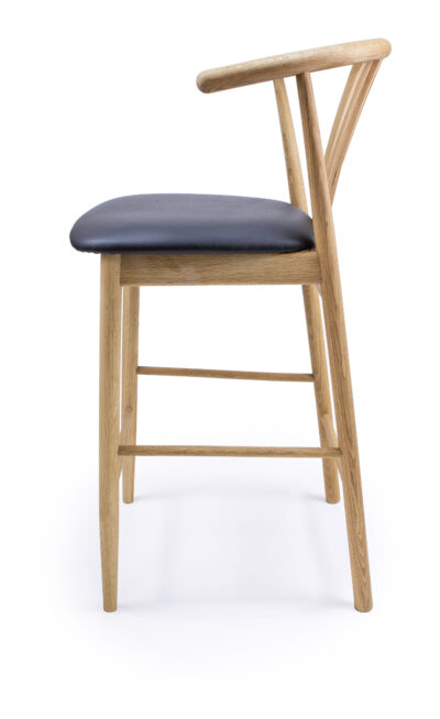 Solid Wood barstool made of Beech or Oak - 1326B