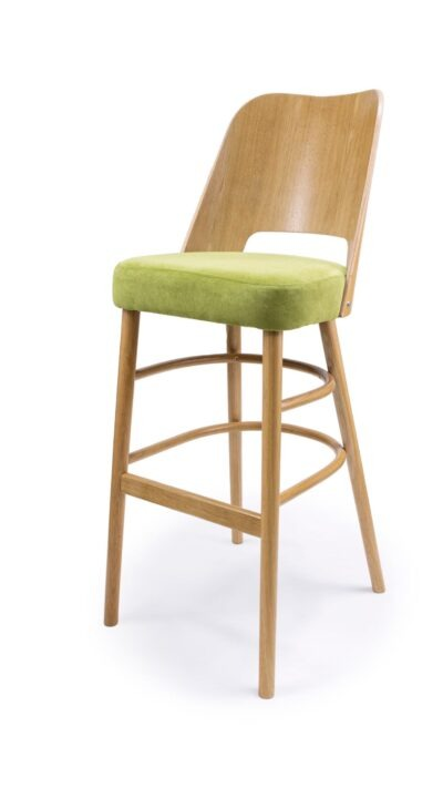 Solid Wood barstool made of Beech - 1334B-XLP