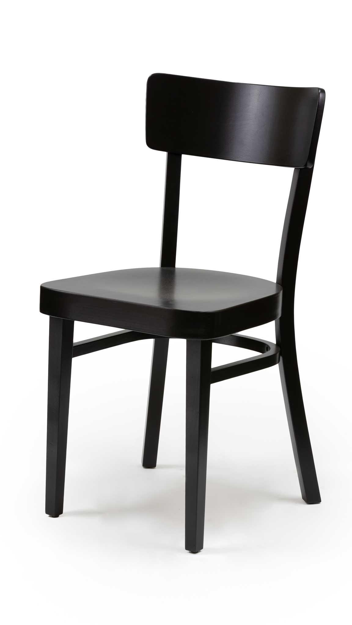 Черен стол от масив бук - 1310S
