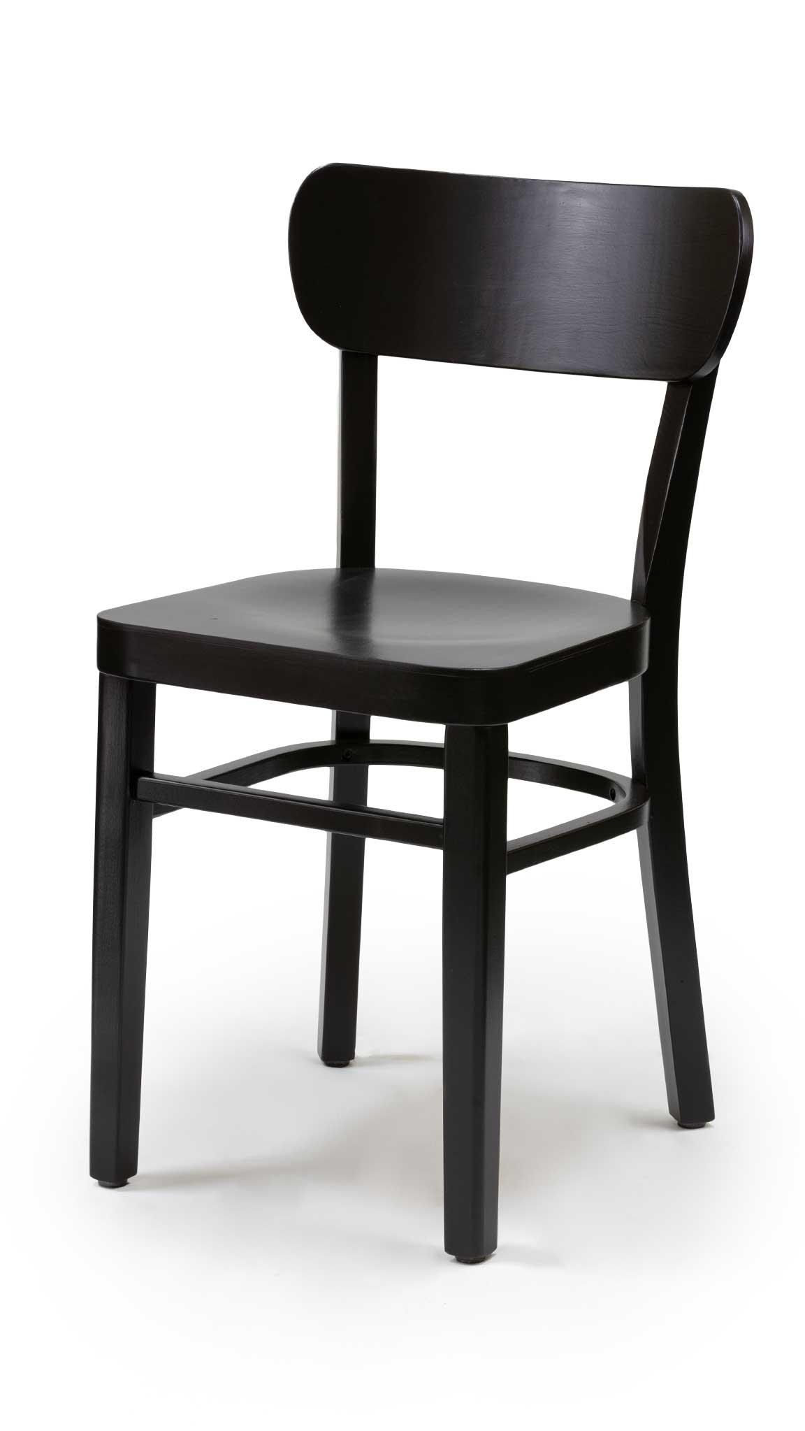 Черен стол от масив бук - 1322S